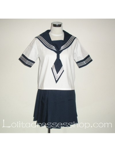 Black And White School Uniform 3 Sailor Suit