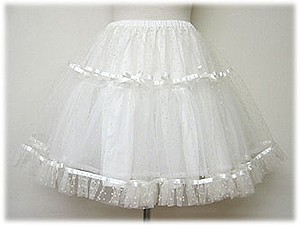White Cotton Double Layers Lolita Dress Petticoat