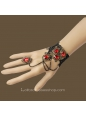 Black Lace Red Diamond Lolita Bracelet