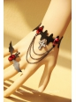 Black Bat and Red Diamond Gothic Lolita Bracelet