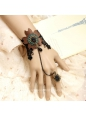 Black Lace Coffee Flower Lolita Bracelet