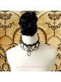 Lolita Lady Clavicle Black Lace Bride Necklace