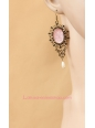 Lolita Moon Fairy Pink Retro Archaize Earring