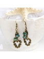 Lolita Artificial Crystal Love Retro Handmade Fashion Earring