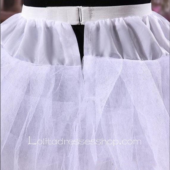Fluffy White Bridal Dress Sweet Lolita Dress Petticoat