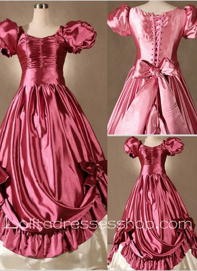 Gothic Victorian Super Gorgeous Pink Bow Princess Lolita Dress