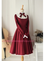 Castle Girl Wine Red Vintage  Classic Lolita Dress