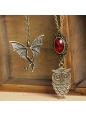Gothic Fashion Vintage Owl Bat Multilayer Lolita Sweater Chain