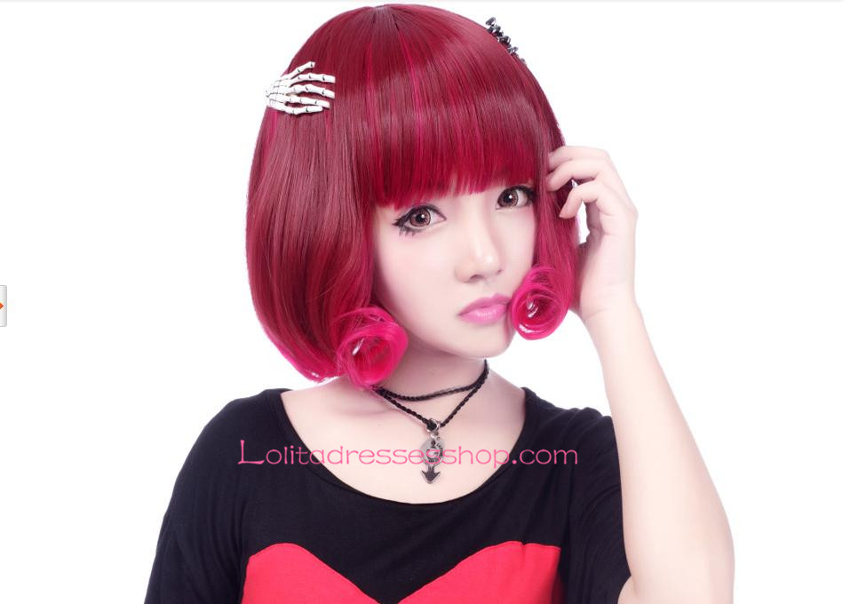 Lolita Nifty Red-brown Short Maid Cute Cosplay Wig