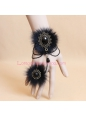 Christmas Fashion Black Fox Wool Lolita Bracelet
