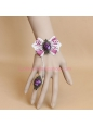 White Lace and Purple Bowknot Lolita Bracelet