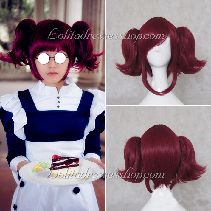 Brownish Red Black Butler Meirin Cosplay Wig