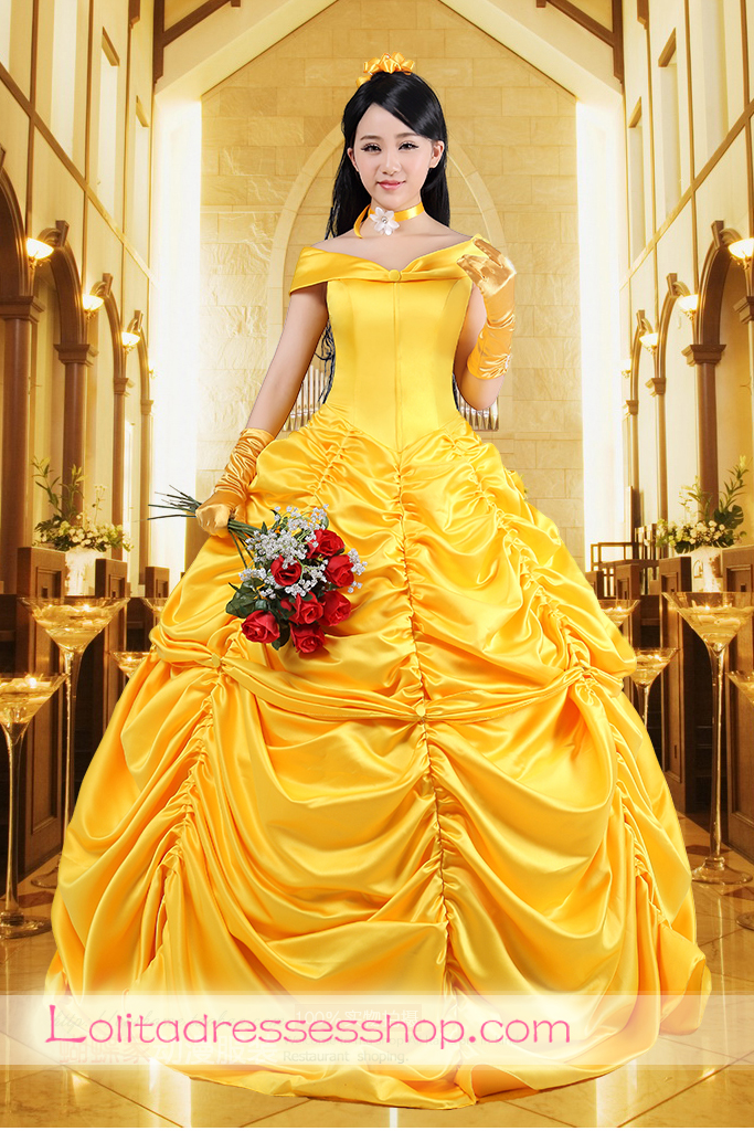 Cheap Disney Princess Beauty and the Beast Belle Cosplay Lolita ...