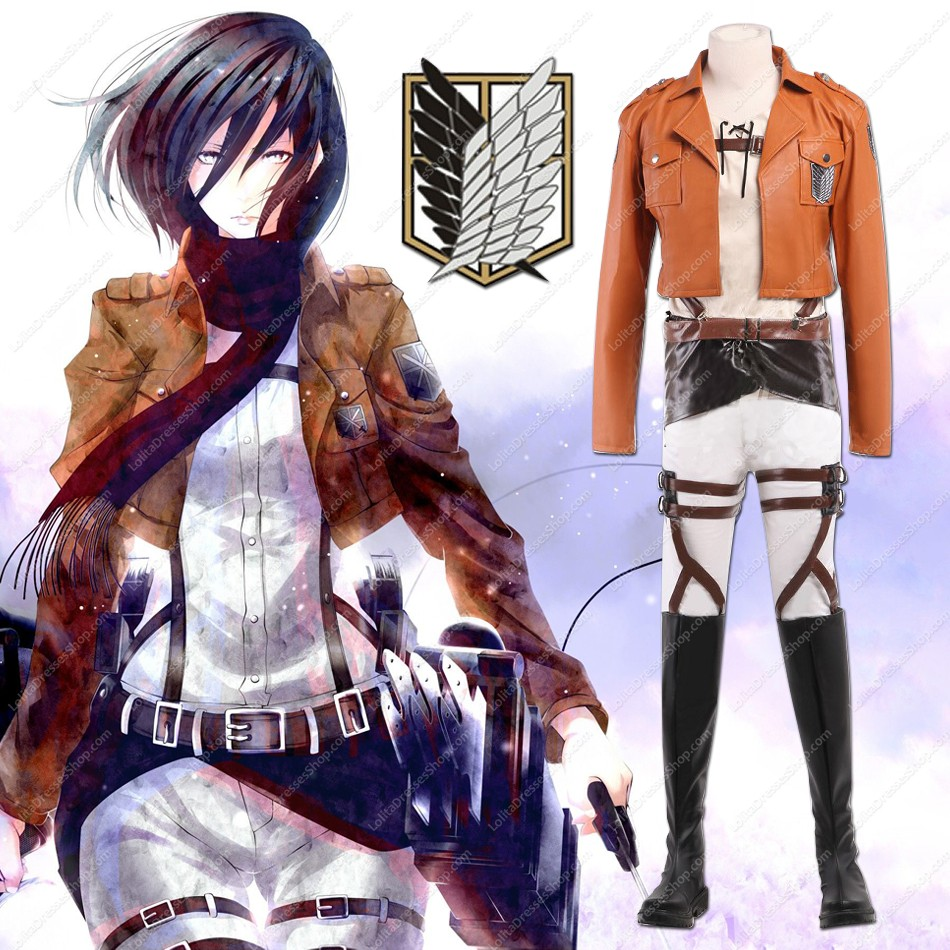 "Attack on Titan Shingeki no Kyojin ""Wings of Freedom"" Scouting Legion Cosplay Complete set (PU Leather)"