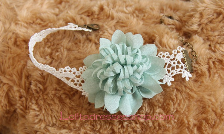 Cheap Lolita Vintage Lace Chiffon Bridal Flower Foot