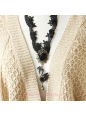 Lolita Hollow Lace Retro Fashion Wild Swan Sweater Chain