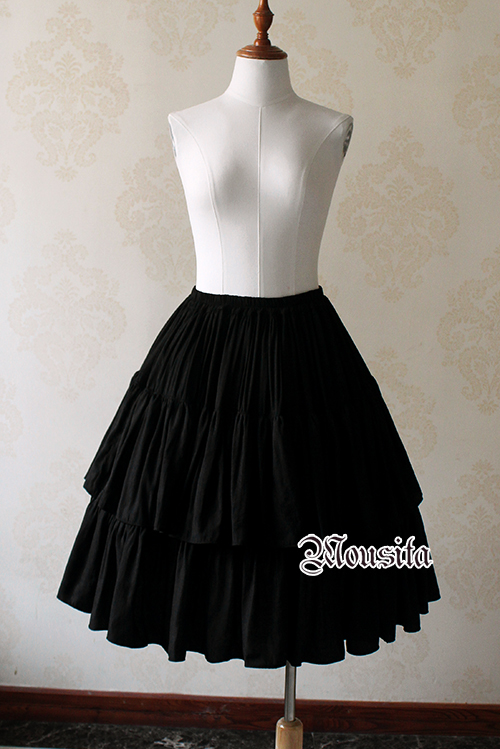Sweet Cotton Retro Jacquard Steel Mousita Lolita Skirt Two Piece