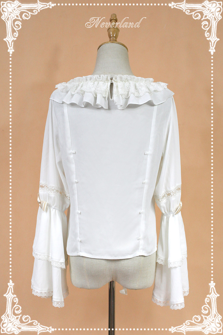 Chiffon Elector Double Sleeve Round Collar Lolita Blouse