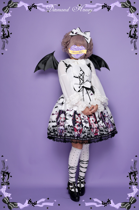 Cemetery Carnival Gothic Bat Coffin Halloween Dress