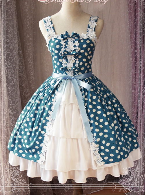 Magic Tea Party Owls And Rabbits Series Sling Dress Classic Lolita