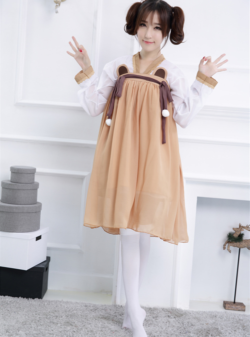 Retro Daily Han Chinese Clothing Chinese style Lolita Dress