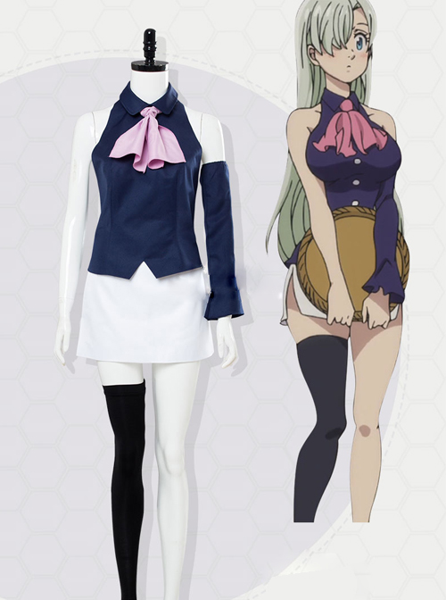 The Seven Deadly Sins Theatrical Version:The Prisoner Of The Sky Elizabeth Liones Female Cosplay Costumes