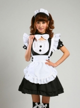 Multicolor Cute Maid Lolita Short Sleeve Dress Set