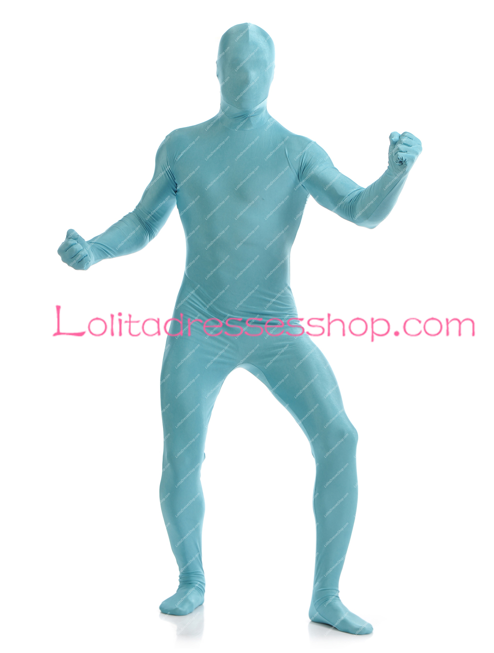Bright Blue Color Blocking On One Wall And Ceiling: Cheap Bright Blue Color Spandex Full Body Unisex Zentai